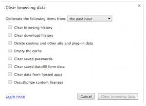 Google Chrome clear browsing